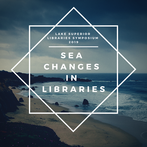 "Beach and waves with the words ""Sea Changes in Libraries"""